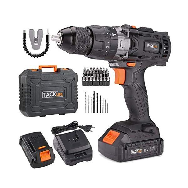 TACKLIFE-PCD04B-Avvitatore-a-Batteria-18V-18-V-Nero-Trapano-Elettrico-con-Percussione