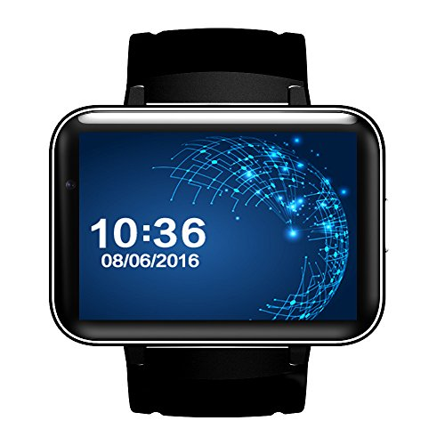 Jiameng smartwatches - bluetooth 3g android smart watch sim phone 4gb fotocamera frontale dual core bk dieci punti dieci minuti tenfifteen dm98 orologio intelligente (scheda 3g) nero