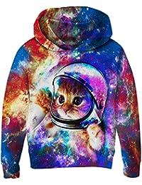 ea61c474f58a Goodstoworld Unisex Kids Boy Girl 3D Hoodie Colorful Galaxy Fleece  Sweatshirts Pockets Pullover Hoodies (4