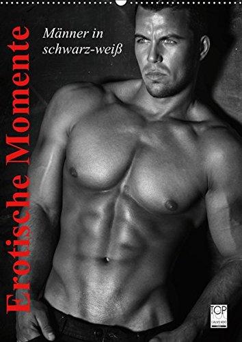 Erotische Momente. Männer in schwarz-weiß (Wandkalender 2019 DIN A2 hoch): Erotische Männer in sinnlichen Posen zum Träumen! (Monatskalender, 14 Seiten ) (CALVENDO Menschen)