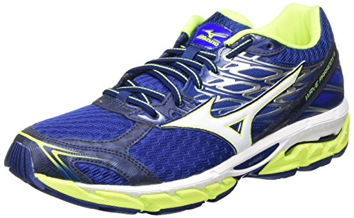 Mizuno Wave Paradox 4, Scarpe da Ginnastica Uomo, Blu (Blue Deptths/White/Safety Yellow), 44 EU