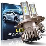 EASY EAGLE H4 LED 10800LM Lampadine per Fari Anteriori di Auto e Moto, 12V, 6000K
