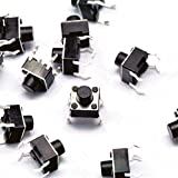 10 x Buttons Printed Circuit Board (PCB) Tactile Push Button Switch Tact Switch 6 x 6 x 6 mm Dip