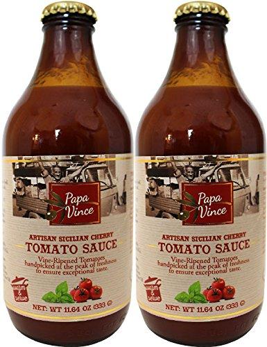 ckerzusatz aus Sizilien, Italien, hergestellt aus rebenreifen Tomaten handverlesen auf dem Höhepunkt der Frische, 333ml (2-Flaschen) ()