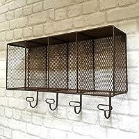 Generic Hooks Shelf Storage Shelf Storage Display Vintage Industrial Style Vintage In Display Cabinet Shelf S Metal Wall e Indu Rack Hooks