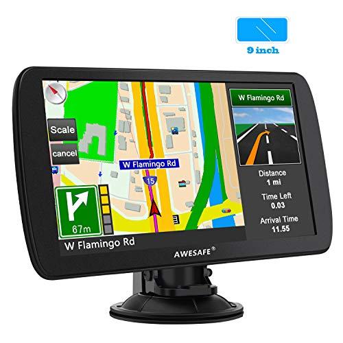 AWESAFE 9 Pouce GPS Automatique de Voiture 8GB Appareil de Navigation Écran HD Tactile Intégrer Le Système des Instructions Vocales Multi-Languages