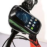 Fahrrad Lenkertasche Handyhalter Tasche Rahmentasche Fahrradtasche Oberrohrtasche Für Handy Unten 5,5 Zoll ( Farbe : Grün )