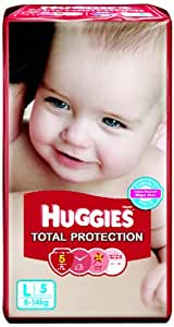 Huggies Total Protection Baby Care Large Diapers (5 Count)