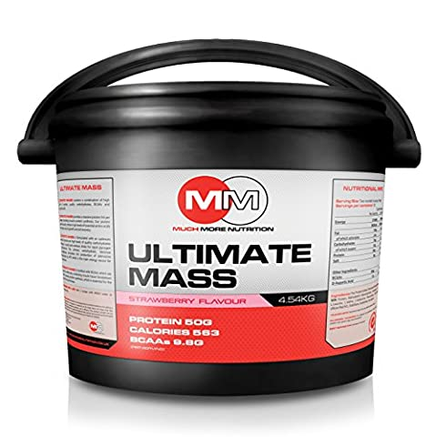 MMN Ultimate Weight and Protein Mass Gainer Saveur fraise 4.54kg