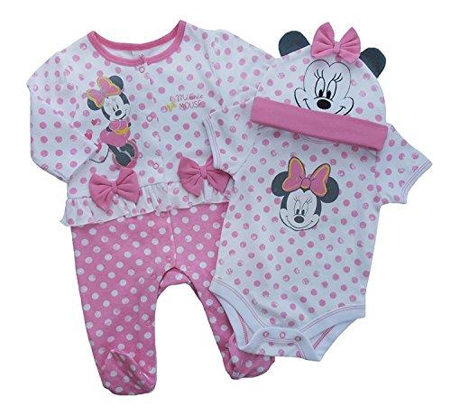 Preisvergleich Produktbild Disney 3PCS SET Minnie Maus Baby Mädchen Kurzarm Body mit passendem Höschen und Top (6months)