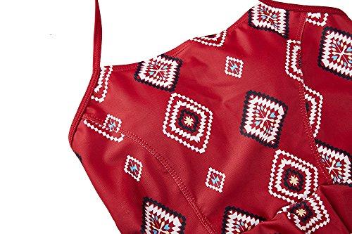 Aidonger Damen Bikini Sets Vintage Tankini Hoher Taille Bikini Oberteil Bikini Unterteil 1#Oberteil
