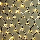 240er LED-Lichternetz Lichterkette Weihanachtslichterkette warmweiß innen & außen mit Trafo Kabel Grün