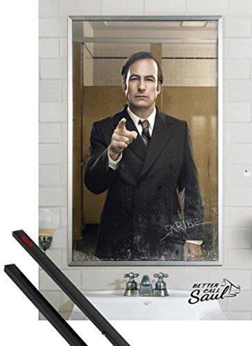 Poster + Sospensione : Better Call Saul Poster Stampa (91x61 cm) Specchio E Coppia Di Barre Porta Poster Nere 1art1®