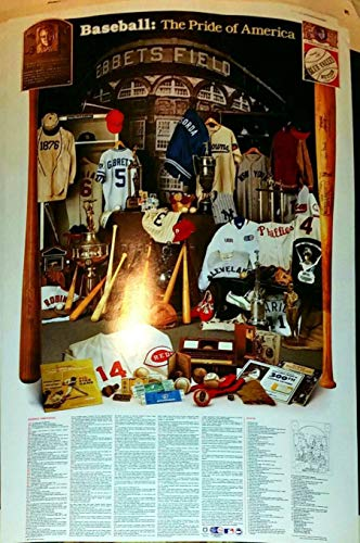Poster MLB The Pride of America mit Babe Ruth 1984 Vintage -