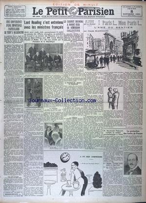 PETIT PARISIEN EDITION DE MINUIT (LE) [No 19945] du 08/10/1931