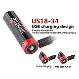 UltraFire Micro USB 18650 Akkus Li-Ion 3400mAh (Max)...
