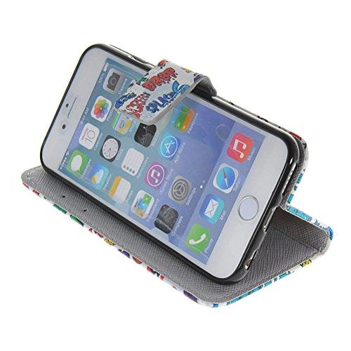 MOONCASE Coque en Cuir Portefeuille Housse de Protection Étui à rabat Case Pour Apple iPhone 6 ( 4.7 inch ) 02