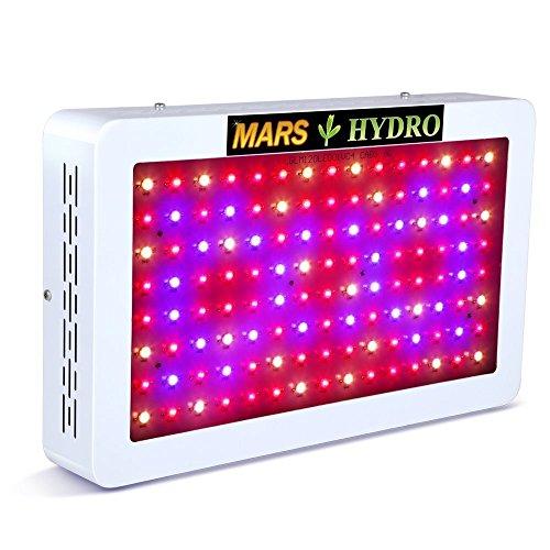 MARS HYDRO 300W/600W LED Wachsen Lampe Vollspektrum für Innen Samen/Knospe/Pflanze Gemüse und Blume (600w Led)