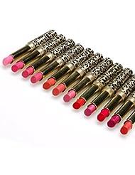 Rouges à lèvres,Covermason 12pcs/lot de rouge à lèvres Lip Stain maquillage beaucoup Leopard hydratante Lip Stick Set