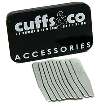 10 Piece Metal Collar Stiffeners Set | Cuffs & Co (56x9mm Cutaway Collar)