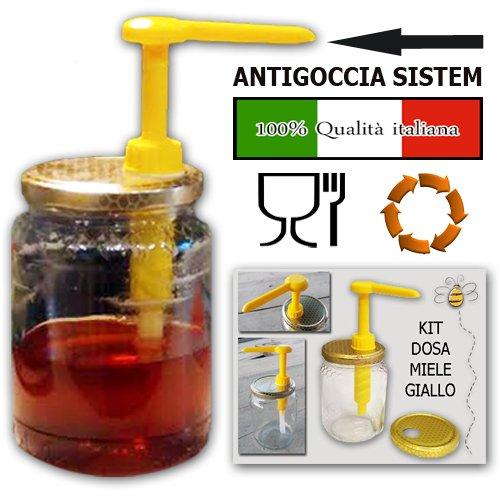 Kit dispensador de miel, color amarillo, de calidad certificada italiana