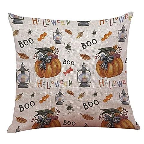 Lanspo Kissenbezug Happy Halloween Leinen Wurf Kissenbezug Kissenbezug Startseite Sofa Car Cafe Shop Dekor Neu (F)