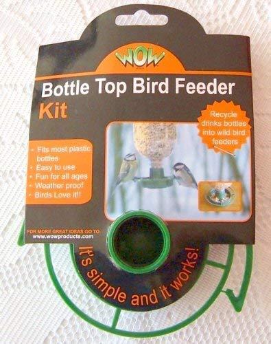WOW - Kit Mangeoire pour Oiseau Bouchon pour Bouteille en Plastique Vide