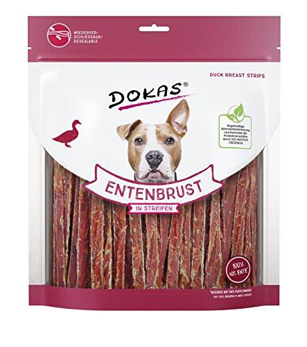 DOKAS Getreidefreier Premium Snack in Streifen für Hunde - Aus Entenbrustfilet