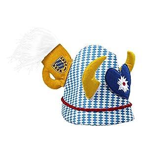 WIDMANN 0063C Oktoberfest sombrero con cuernos, talla única
