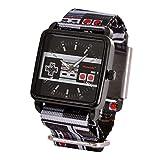 Nintendo Wrist Watch NES Controller con Correa de Tela analógica Negro Gris