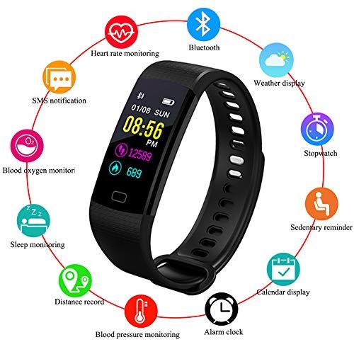 WISHDOIT Fitness Tracker,IP67 Wasserdicht Pulsmesser Schlafüberwachung Aktivitätstracker Schrittzähler Kalorienzähler Intelligentes Armband SMS-Erinnerung Kinder Damen Männer (Kinder Halloween Für Aktivitäten Für)