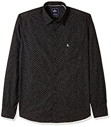 Parx Mens Casual Shirt (8907254447365_XMSA05303-B6_40_Black)