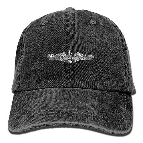 Jxrodekz US Navy U-Boot Insignia Baumwolle Denim Hut gewaschen Retro Gym Hut Mütze Hut EE240