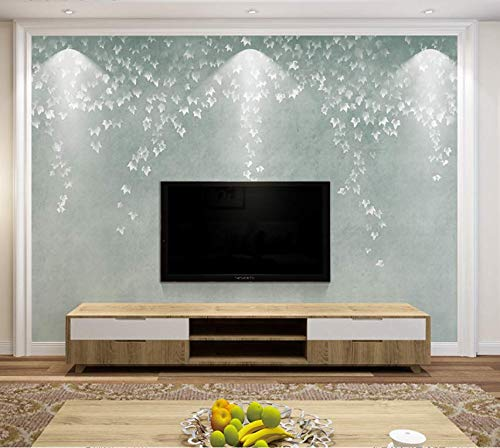 3D Vliestapete3D Non-Woven Wallpaper 3D Tv Background Wall Paper Simple Modern Living Room Sofa Decoration Mural Nordic Bedroom Video Wall Covering Maple Leaf, 400 * 280 -