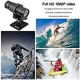 Full HD 1080P DV Mini Waterproof Sport Camera Bike Helmet Action DVR Video Cam 120 Degree Wide Angle F9 Black