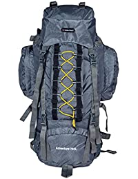 Indian Riders 75L Front Open Model Hiking Trekking Camping Rucksack Bags-Grey-(IRRB-011)