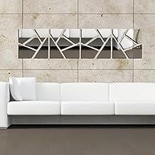 el d espejo de pared adhesivo acrlico cuadrado roto creativa combinacin pegatina para saln dormitorio muursticker