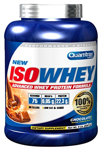 Quamtrax Nutrition Suplemento para Deportistas Isowhey, Sabor a Chocolate - 2267 gr