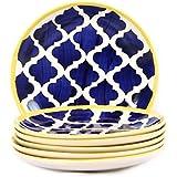 VarEesha Ceramic Plate Set, 6-Pieces, Multicolour