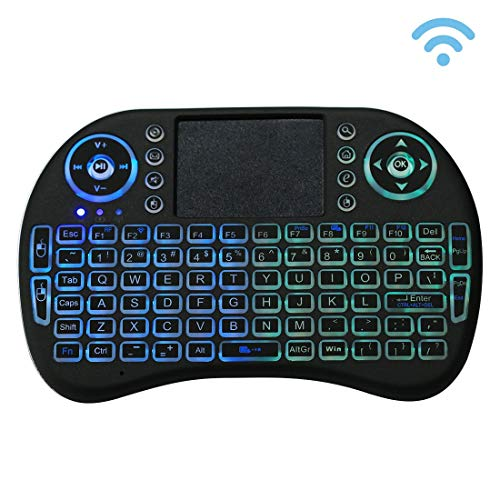 GASHHE Teclado inalámbrico QWERTY Mini i8 2.4GHz