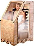 newgen medicals - Sauna a infrarossi compatta in legno Hemlock, 760 W