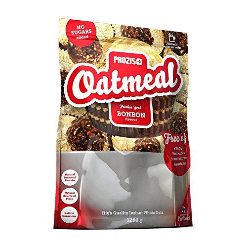 Prozis Oatmeal 1250g - Cereali Arricchiti con Proteine, Carboidrati di Alta Qualità e Fibre Sazianti - Al Gusto NutChoc - Adatto a Vegetariani - Fa Bene al Cuore - 12 Porzioni