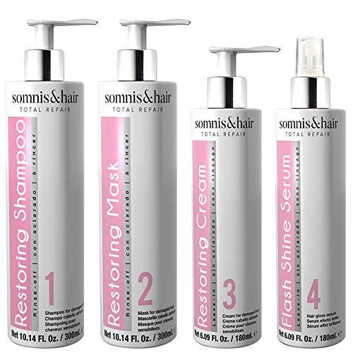 somnis&hair Pack Total Repair Tratamiento Cabellos Dañados. Producto Vegano