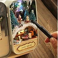 tfxwerws Amazing Fun 3D DIY Miniatur LED Puppenstuben Theater Box für Kinder Mädchen, Snow Dream