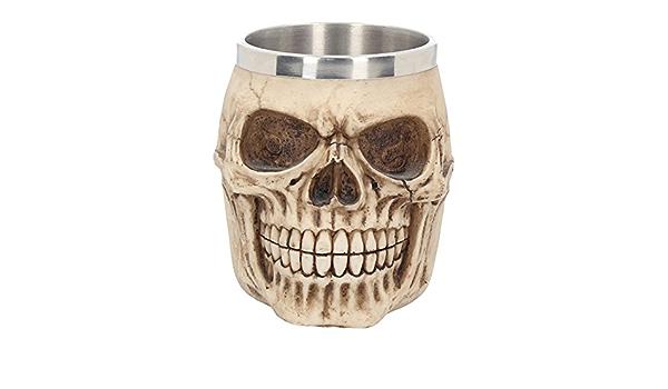Deko Krug Bierkrug Skull Gothic Halloween Tischdekoration Fantasy