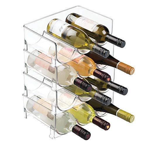 Botellero apilable transparente. 12 botellas
