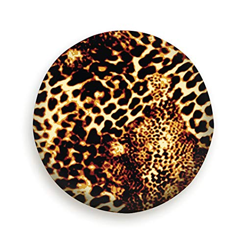 Huabuqi Leopard Animal Wild Print Animals Universal Reserveradabdeckung Schwarz 14inch -