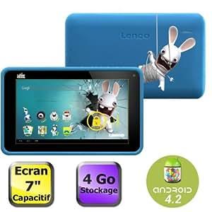 "Lenco Cooltab-72 Lapins Cretins Tablette tactile 7"" (17,78 cm) ARM Cortex A7 1,2 GHz 4 Go Android Jelly Bean 4.2.1 Wi-Fi Bleu"