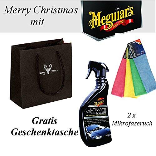 Meguiar Quick Detailer G14422 / 2 Mikrofasertuch 40x40 / Weihnachts Geschenktüte