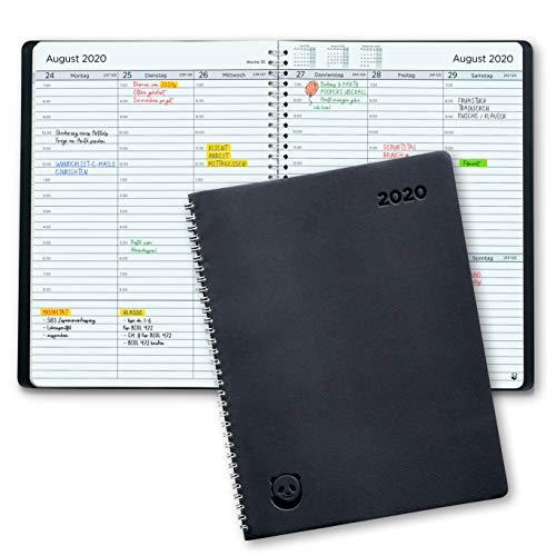 Terminplaner 2020 A4 von SmartPanda - Wochenplaner A4 - Softcover Tagebuch, 30 Minuten-Intervalle - Planer 2020 - auf Deutsch